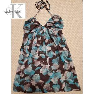 Calvin Klein floral swim cover up
